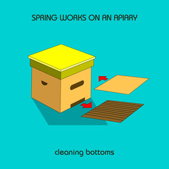 cleaning bottoms (spring work)