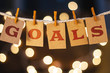 Goals Concept Clipped Cards and Lights - 81872587