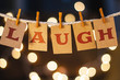 Laugh Concept Clipped Cards and Lights - 81872933