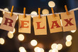 Relax Concept Clipped Cards and Lights - 81873361