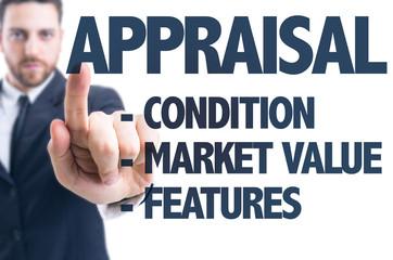 Business man pointing the text: Appraisal Description