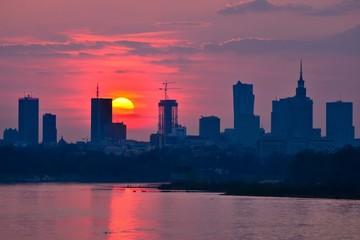 Warsaw Downtown sunset