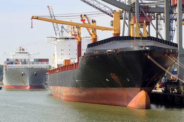 Port container ships