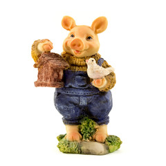 Pig Stone Figurine