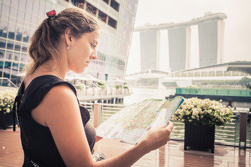 tourist adventure with map
