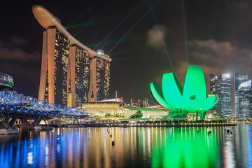 Night city of Singapore