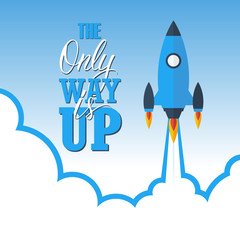 Start up concept: the only way is up.