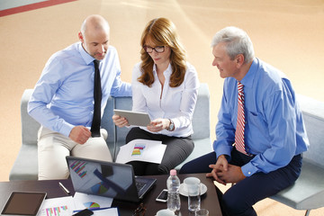 Business people consulting