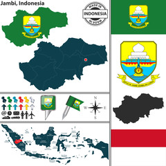 Map of Jambi, Indonesia