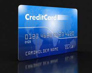 Credit Card (clipping path included)