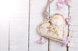 Zdjęcia na płótnie, fototapety, obrazy : Heart on wooden background