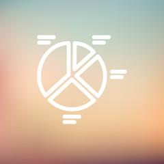 Pie chart thin line icon