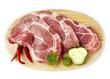 pork meat steaks