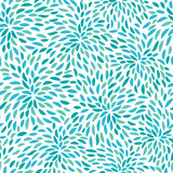 Vector flower pattern. Seamless floral background. - 81878505