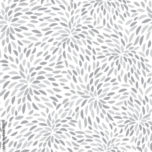 Vector flower pattern. Seamless floral background. - 81878517