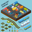 Isometric Parking Elements - 81878943
