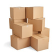 box package delivery cardboard carton stack - 81878990