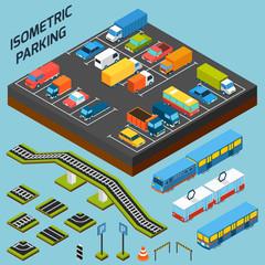 Isometric Parking Elements