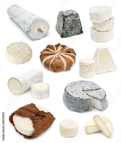 Papiers peints Produit laitier Fromages de chèvre - French goat cheeses