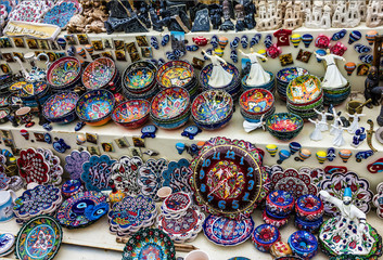 ISTANBUL, TURKEY: Souvenir homemade wares for tourists