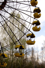 Ferris wheel in Pripyat ghost town, Chernobyl Nuclear Power Plan
