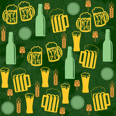 Beer seamless pattern
