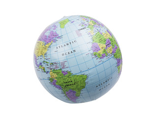 Inflatable globe isolated