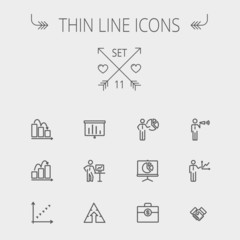Business thin line icon