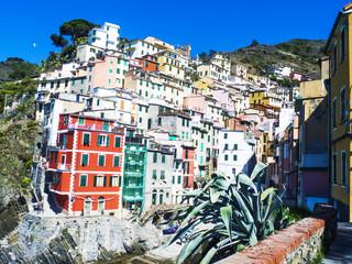 Colorful Cinque Terre glimpse in Liguria, Italy