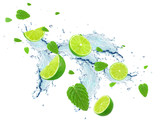 lime and water splash