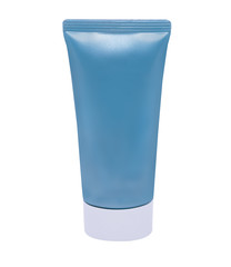 isolated Tube for Cosmetic Package in blue