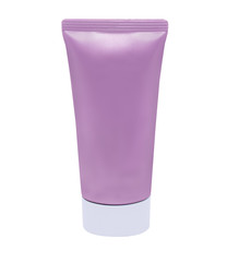 isolated Tube for Cosmetic Package in purple