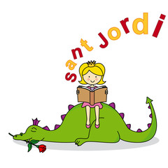 Dragon and Princess. Sant Jordi