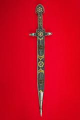 Inlaid antique sword