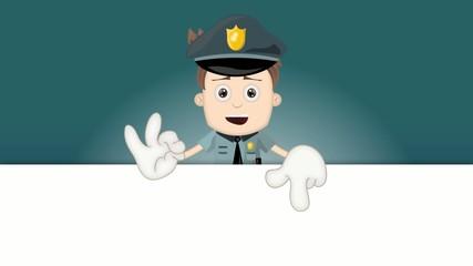 Ben Boy Friendly Police Man Officer Cartoon Character