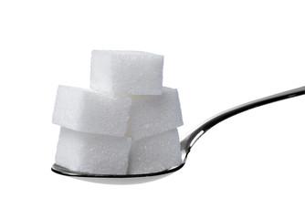 sugar cube and spoon sweet sweetener