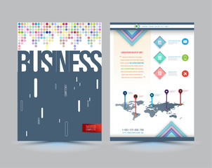Vector business brochure cover template design.