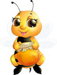 Obrazy na płótnie, fototapety, zdjęcia, fotoobrazy drukowane : bee on a white background