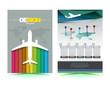 Vector airplane brochure template design. - 81883707