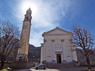 Cadore, Belluno, Italy - The St. George Church of Domegge