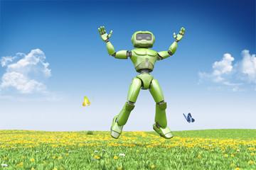 Robot jumps up