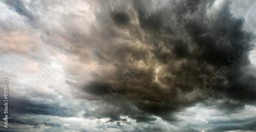 Fotobehang Onweer Fantastic sky presages apocalypse