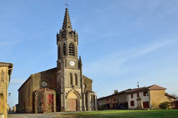 French village Lupiac in Gascony