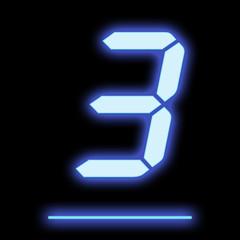 LED digit nine blue
