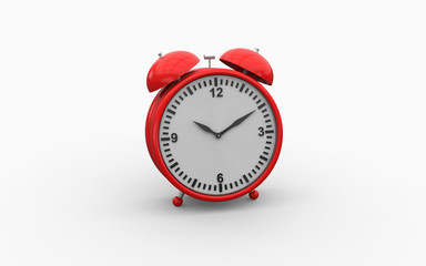 3d illustration of old fashioned alarm clock on white background