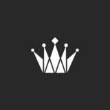 Crown black and white logo, royal symbol