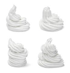 whipped cream sweet food white