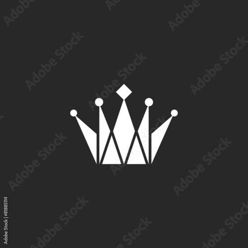 Crown black and white logo, royal symbol - 81885114