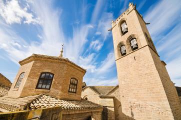 Detail of the famous Olite Castle in Navarra, Spain.