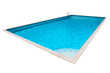 Rectangular Swimming pool with blue water isolated - 81886711